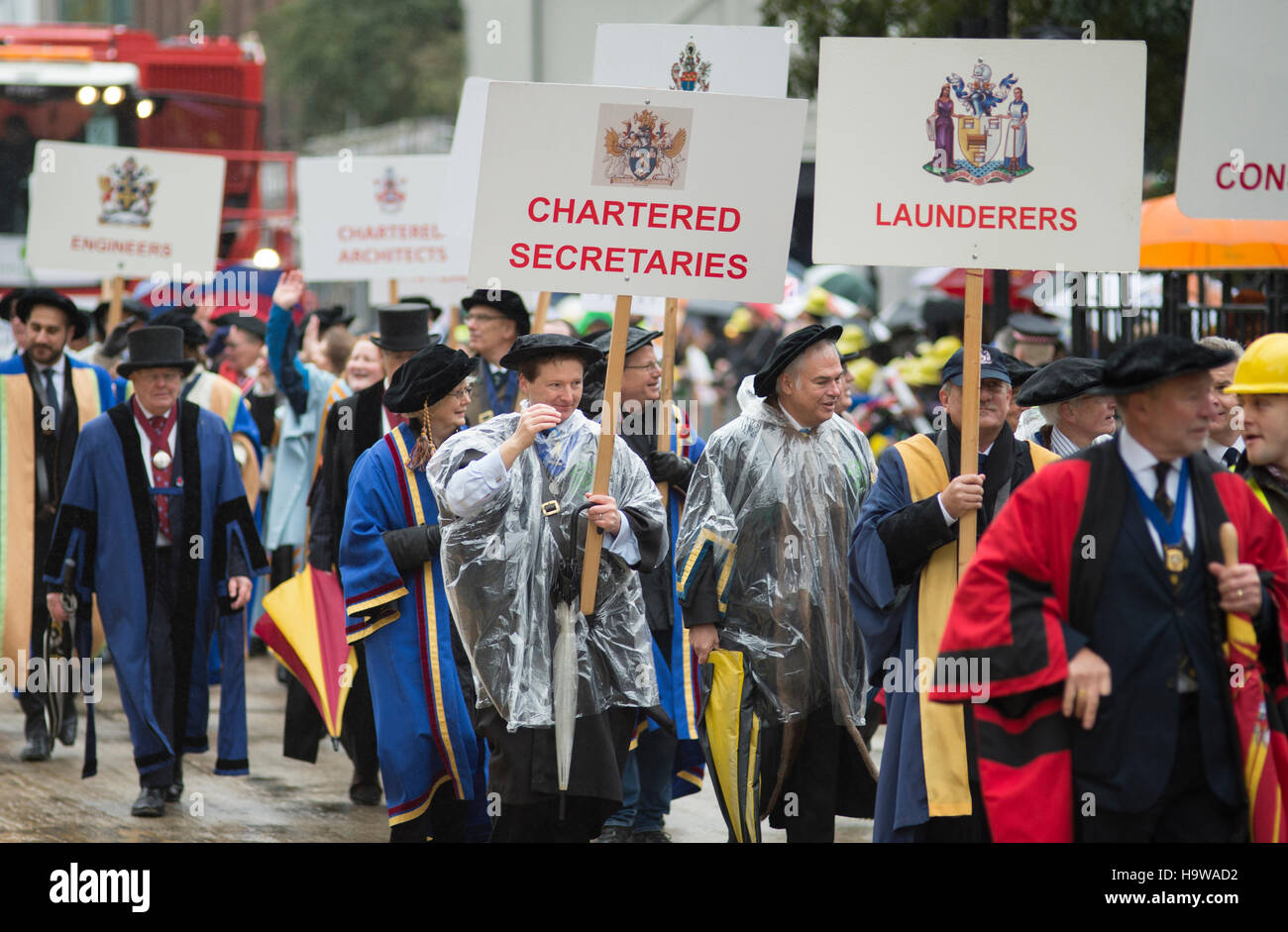 The Lord Mayors Show 2016 in the City of London, the worlds largest unrehearsed procession celebrating his first - Stock Image