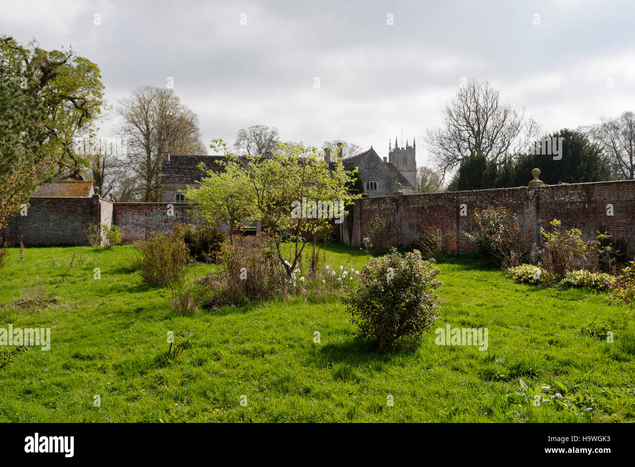 The old Tenant's Garden to be turned into a new kitchen garden at Avebury Manor, Wiltshire. - Stock Image