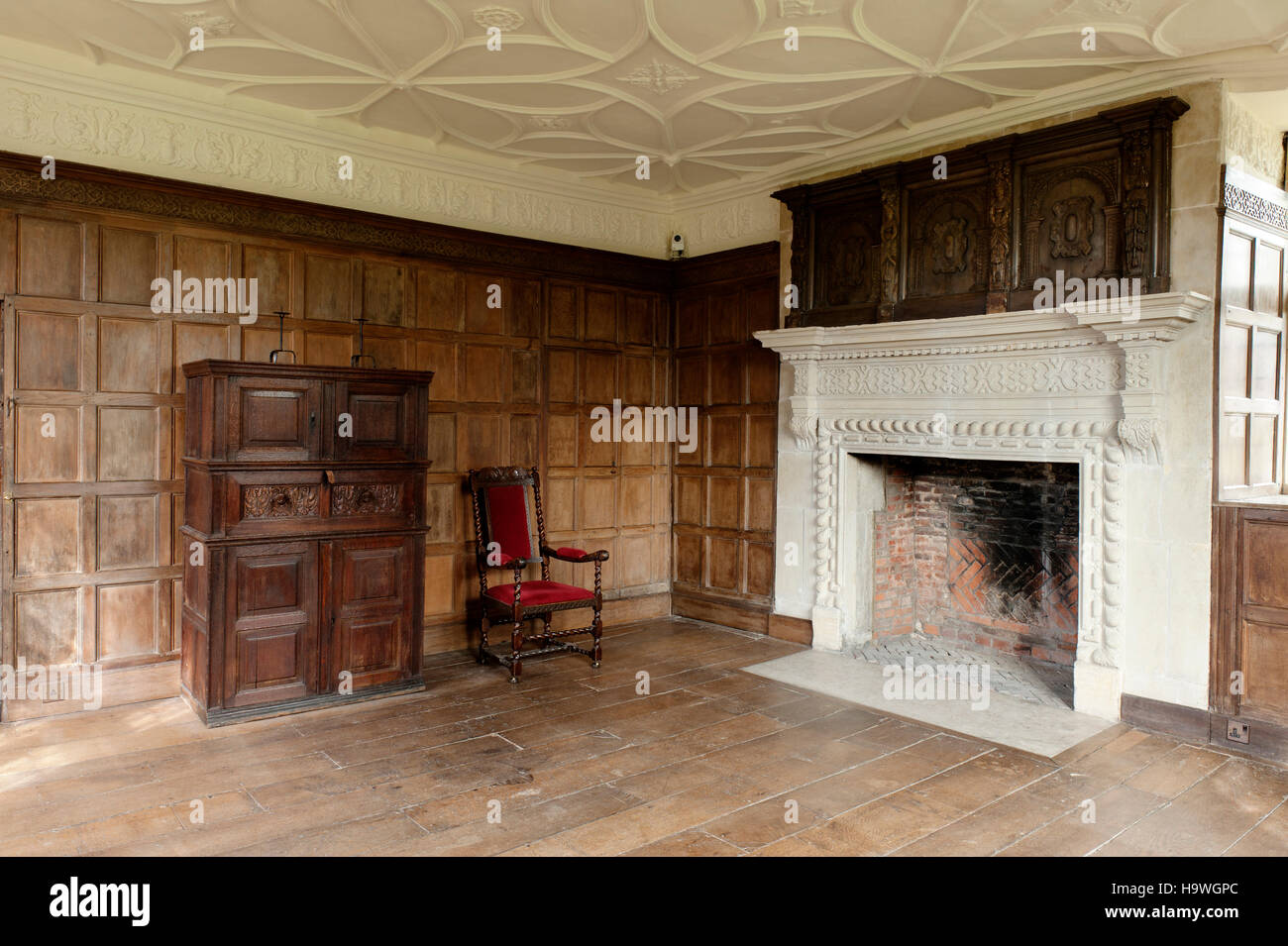The South Bedroom at Avebury Manor, Wiltshire, - Stock Image