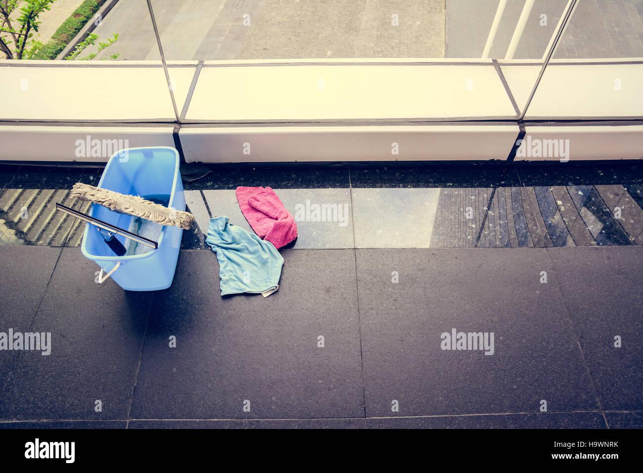 clean glass tools tone vintage plus vignette - Stock Image