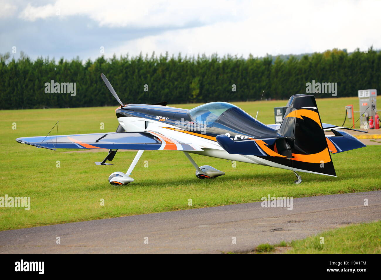 Xtremeair XA41 Sbach 300 G-EVIL parked at White Waltham airfield - Stock Image