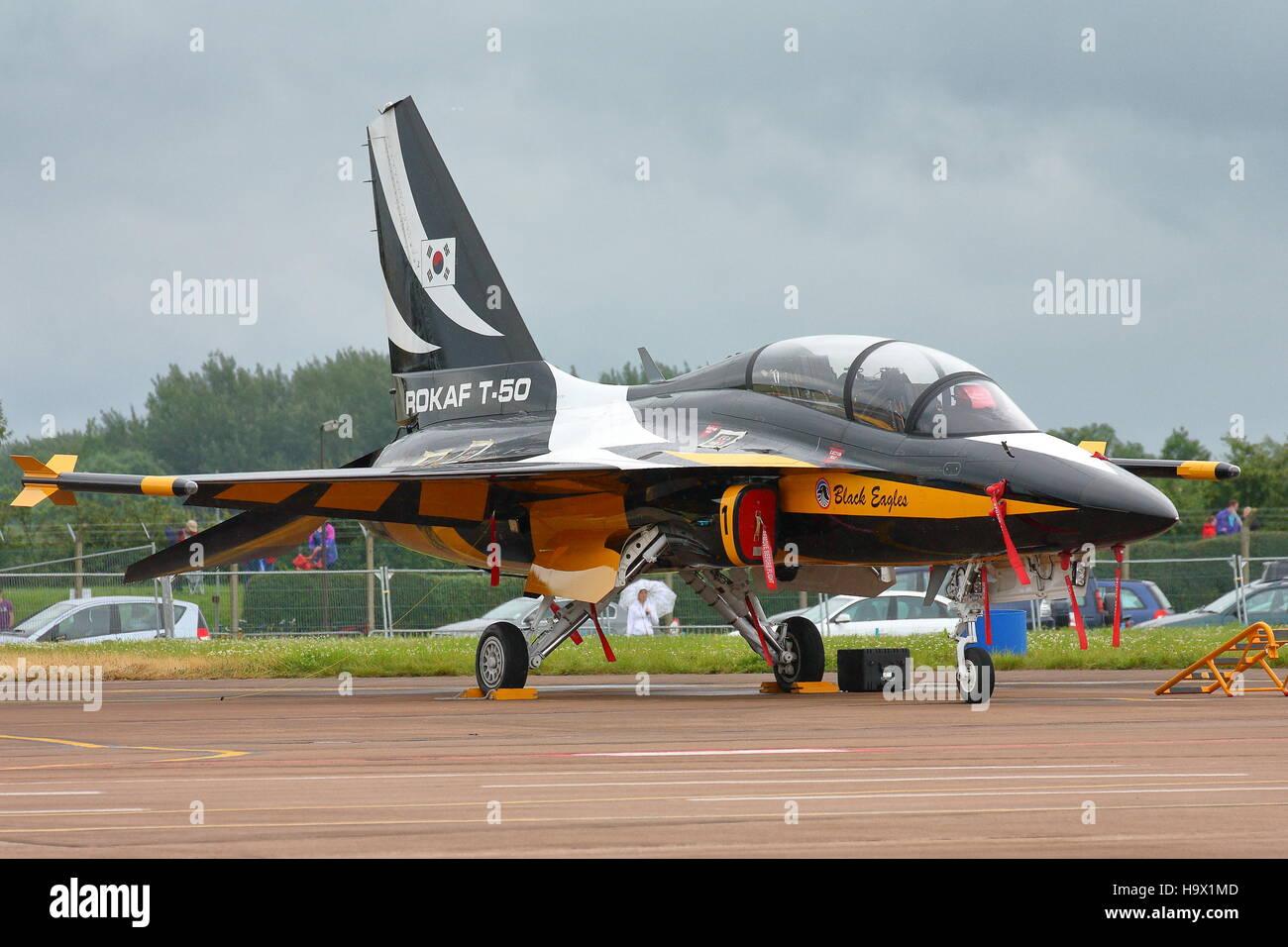Korean Aerospace T-50 Golden Eagle at RAF Fairford RIAT Airshow 2012 - Stock Image
