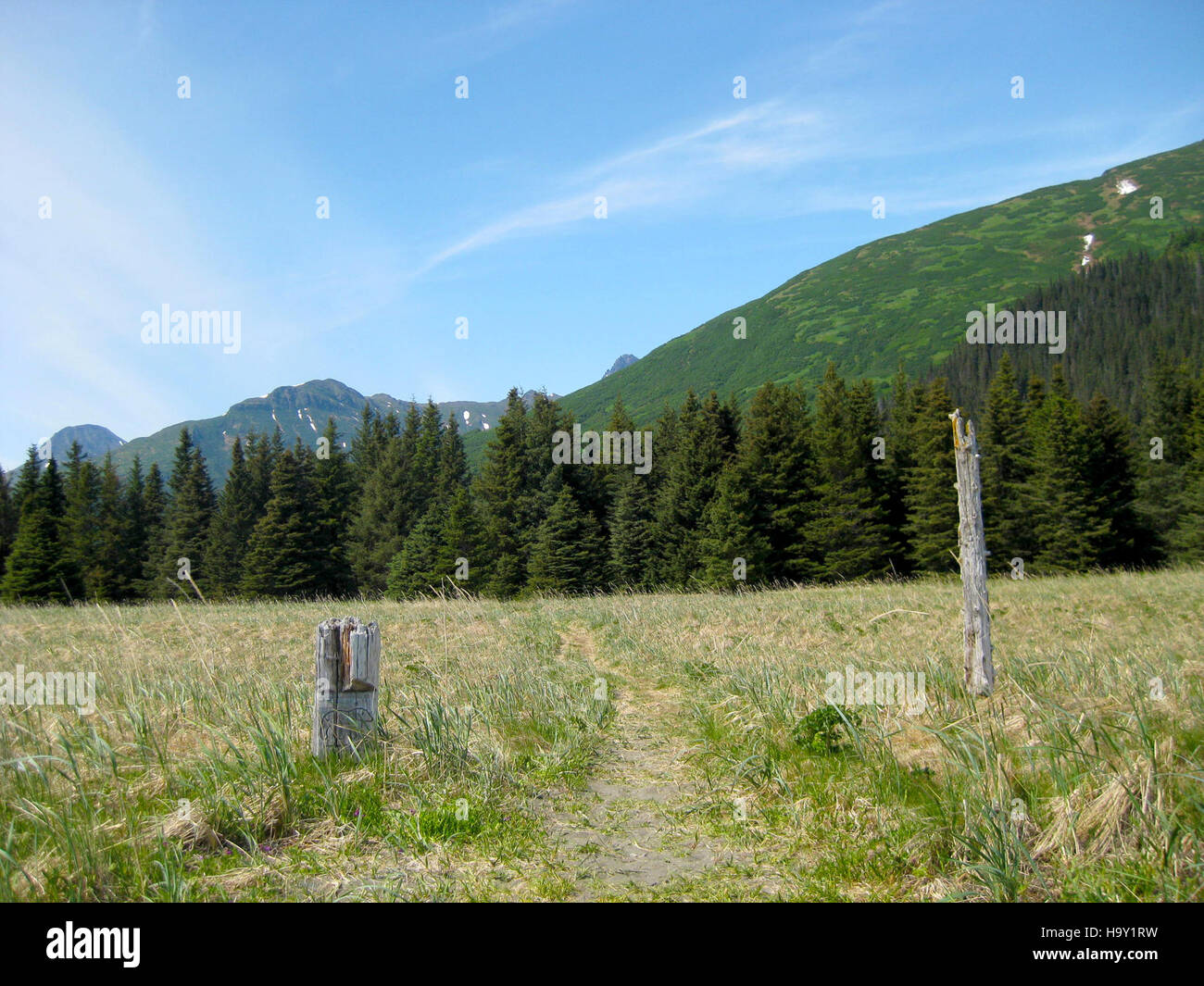 lakeclarknps 25168303952 East Bear Viewing Area Trail Sign Stock Photo