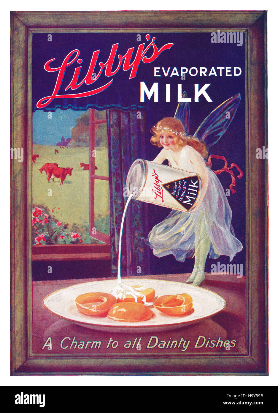 1920's British advertisement for Libby's Evaporated Milk Stock Photo
