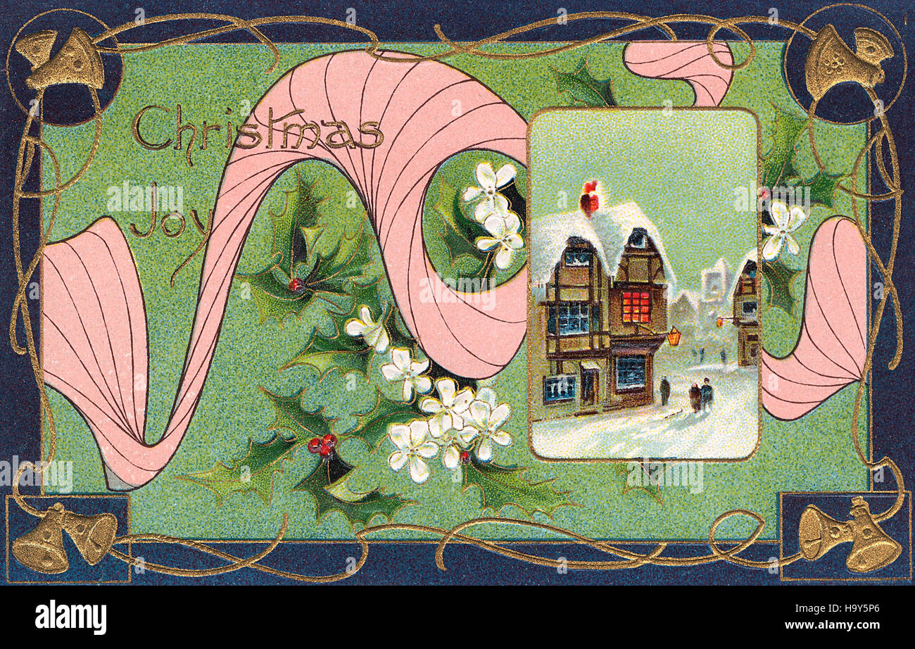 Art nouveau Christmas postcard Stock Photo: 126601726 - Alamy