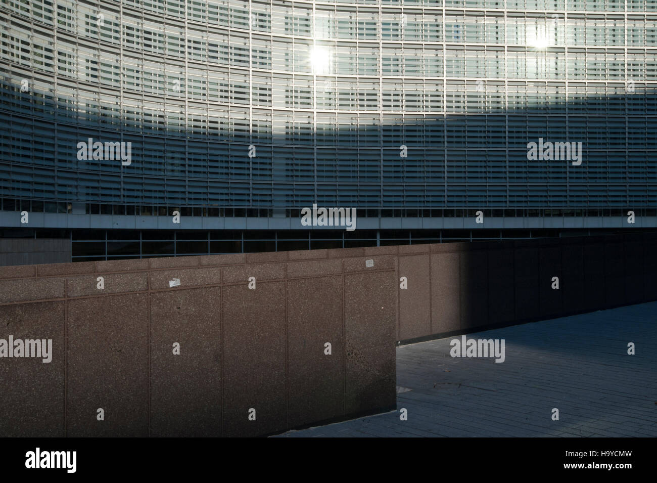 View of the Berlaymont building, siege of the European Commission. - Stock Image