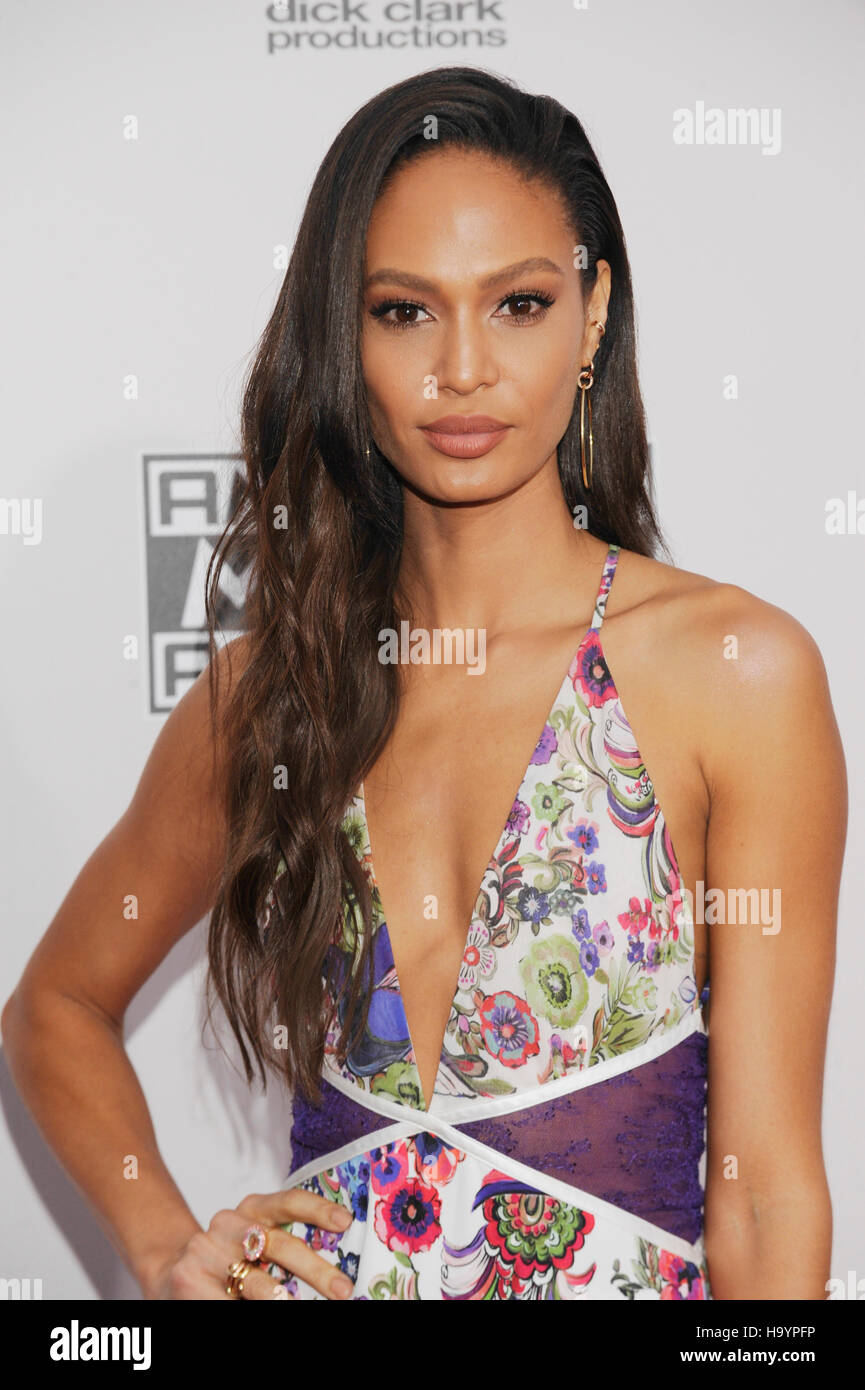 Joan Smalls arrives at the 2016 American Music Awards at Microsoft Theater on November 20, 2016 in Los Angeles, - Stock Image