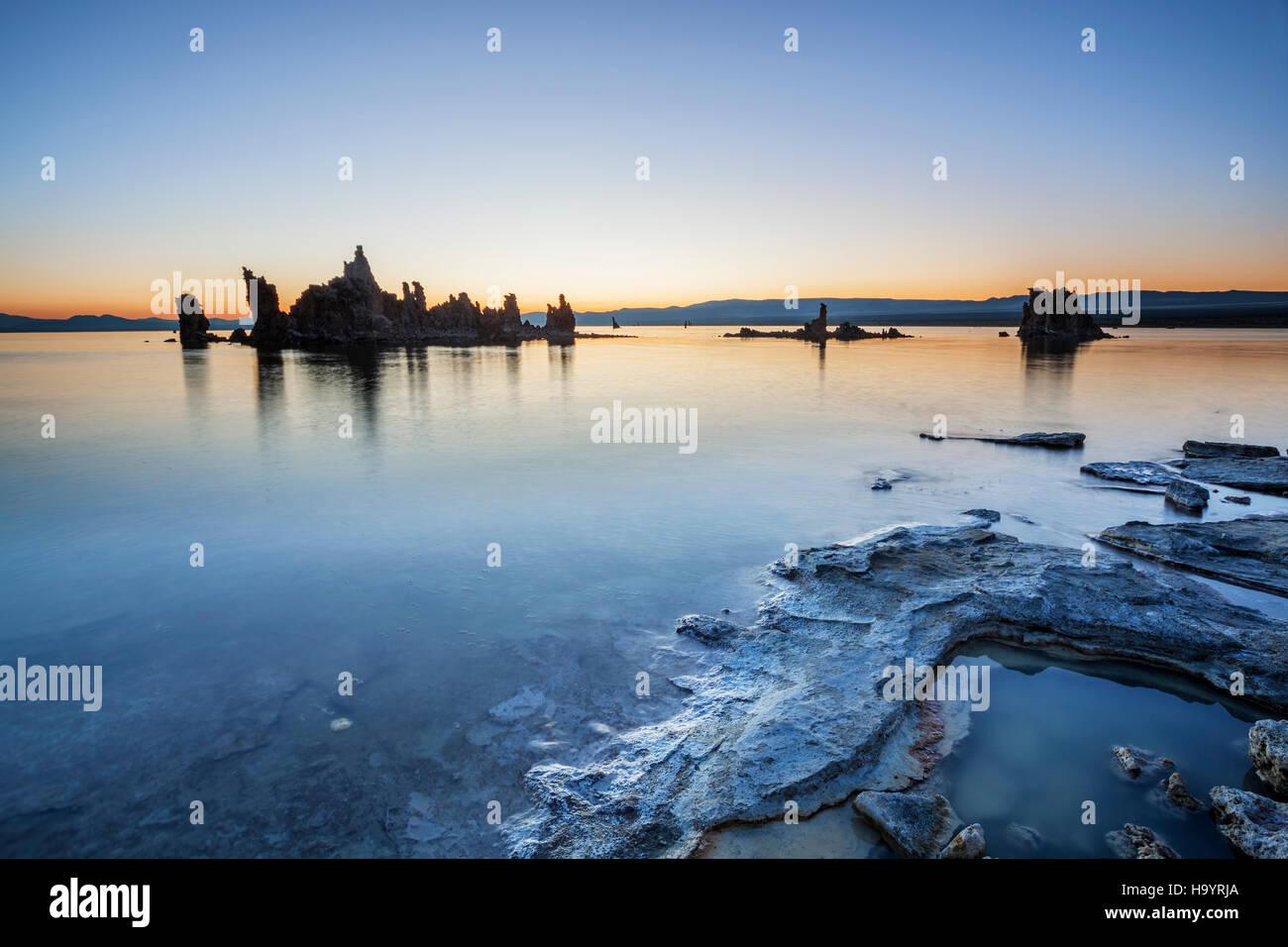 Mono Lake, Sunrise Over Mono Lake - Stock Image
