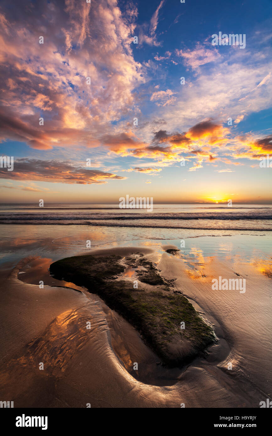Stunning sunrise on Scarborough beach. - Stock Image