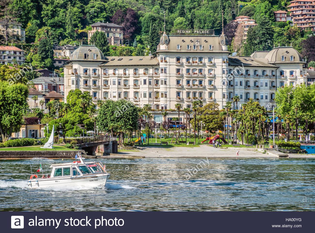 Regina Palace Hotel At The Waterfront Of Stresa At Lago