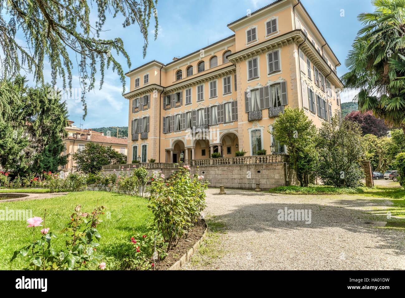Centro Internazionale di Studi Rosmiani of Stresa at Lago Maggiore, Piemont, Italy - Stock Image