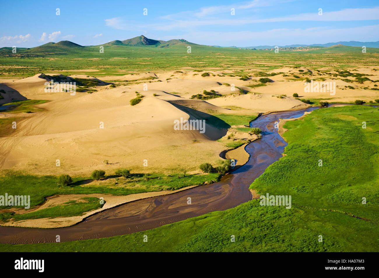 Mongolia, Ovorkhangai province, sand dune at Batkhan national parc - Stock Image