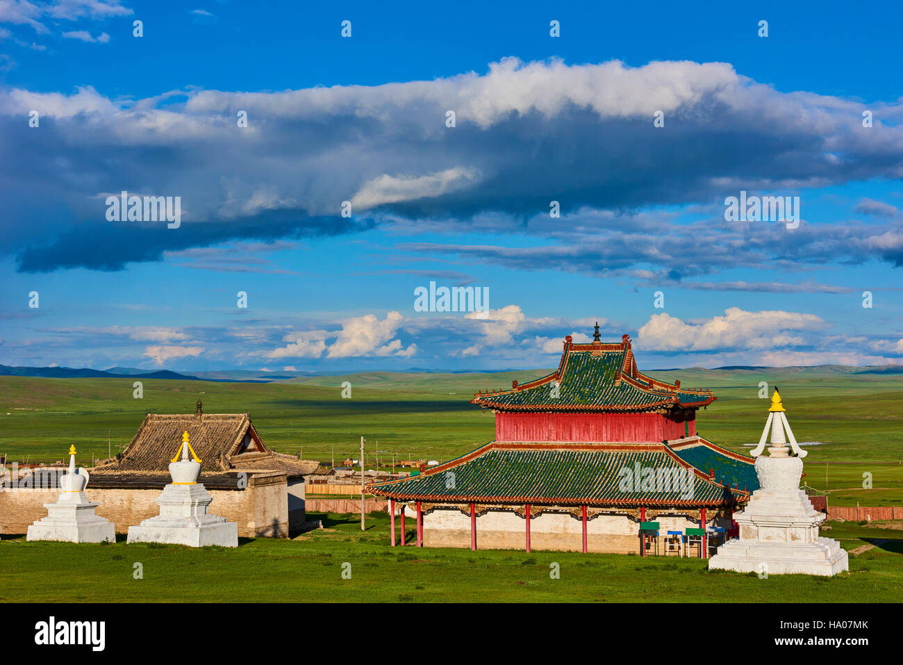 Mongolia, Ovorkhangai, Shankh Monastery, founded in 1647 by Zanabazar - Stock Image