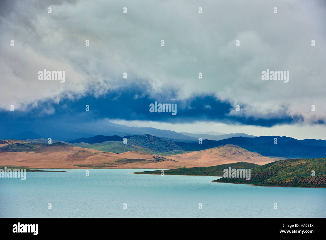 Mongolia, Zavkhan province, Khar Nuur lake - Stock Image