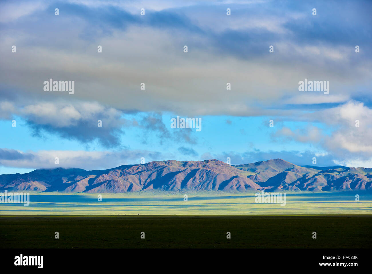 Mongolia, Gobi-Altay province, western Mongolia, landscape in the steppe - Stock Image