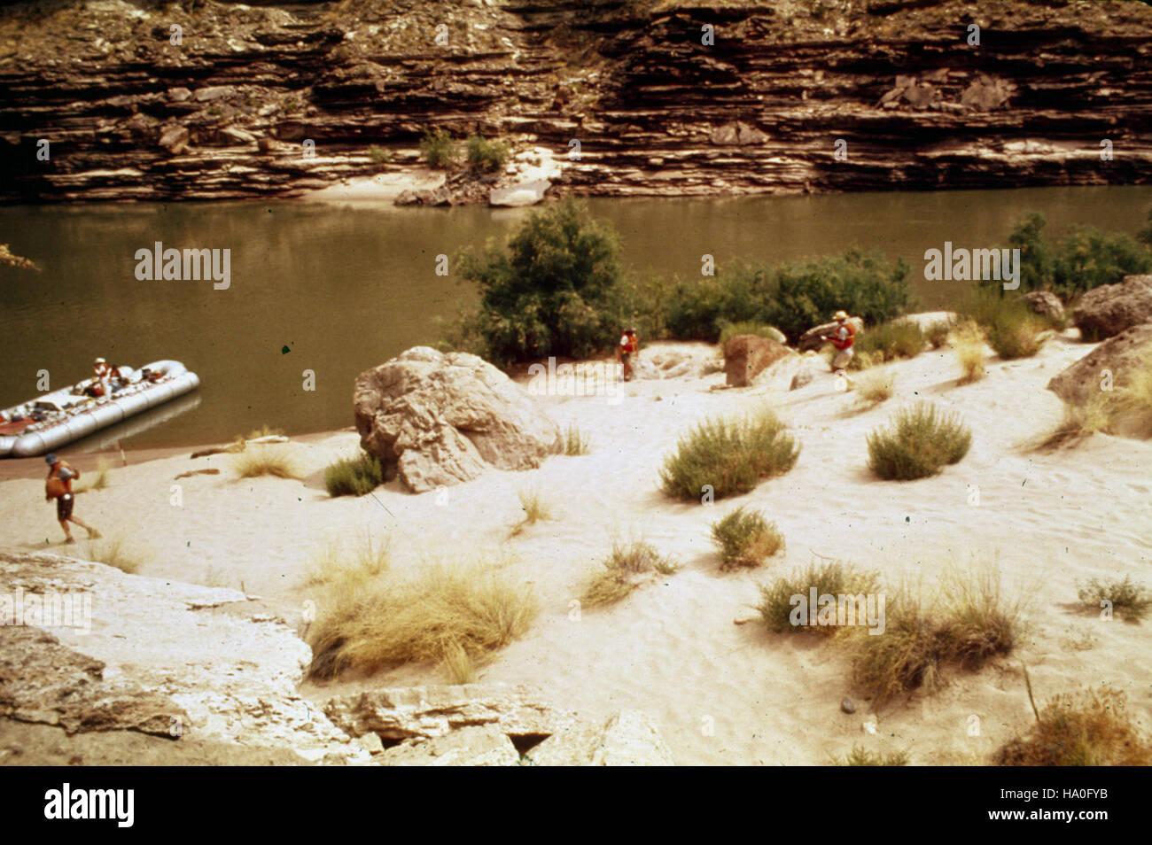 grand canyon nps 18968048563 L138.9U LEFT - FISHTAIL RAPIDS (UPPER) Stock Photo