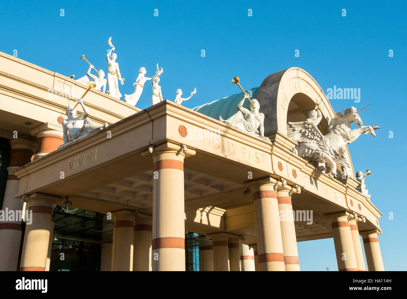 Exterior of INTU The Trafford Centre which is the largest shopping centre in the UK and the first 'mega mall', - Stock Image