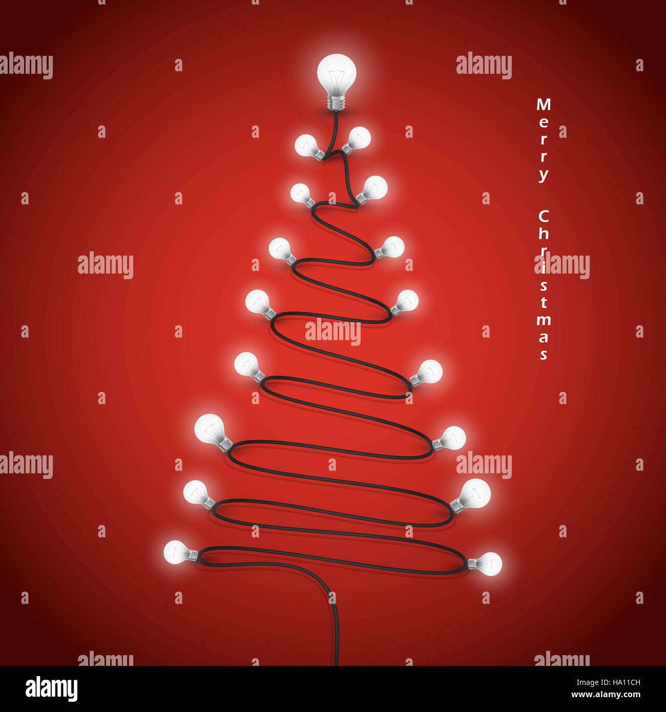 Colorful Christmas Background Design.Colorful Light Bulbs And Christmas Tree Symbol Merry