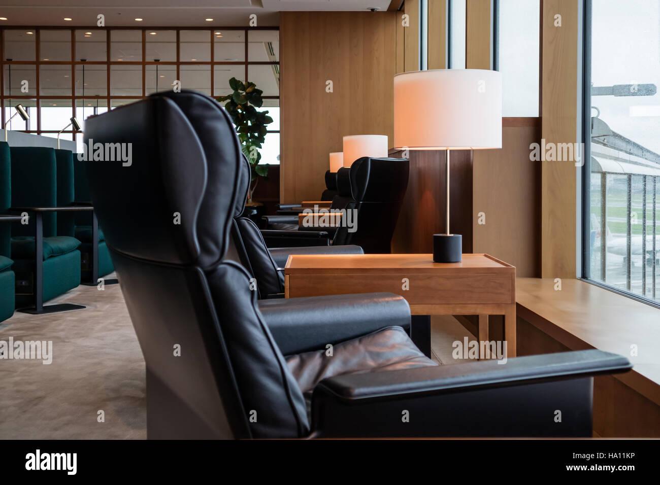 Haneta airport cosy lounge, Tokyo, Japan - Stock Image