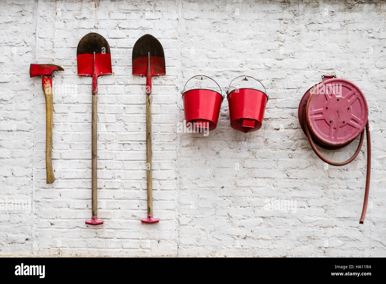 First fire extinguish prevention tools - Stock Image