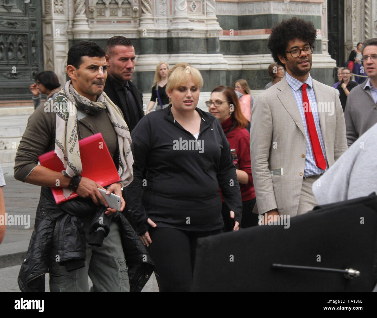 Rebel Wilson and Richard Ayoade film in Florence, Italy for