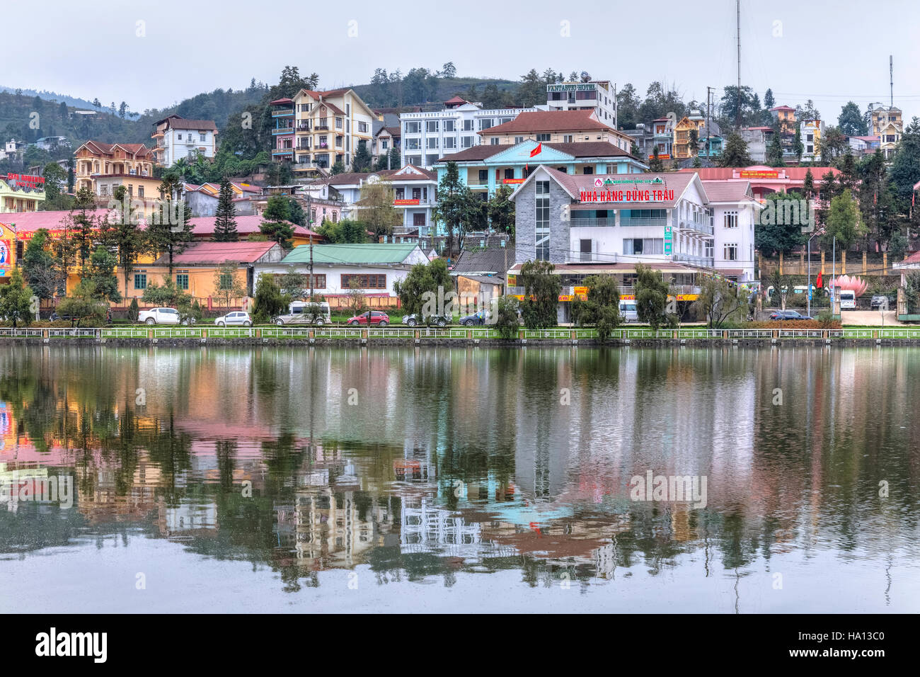 town of Sapa, Lao Cai, Vietnam, Asia Stock Photo