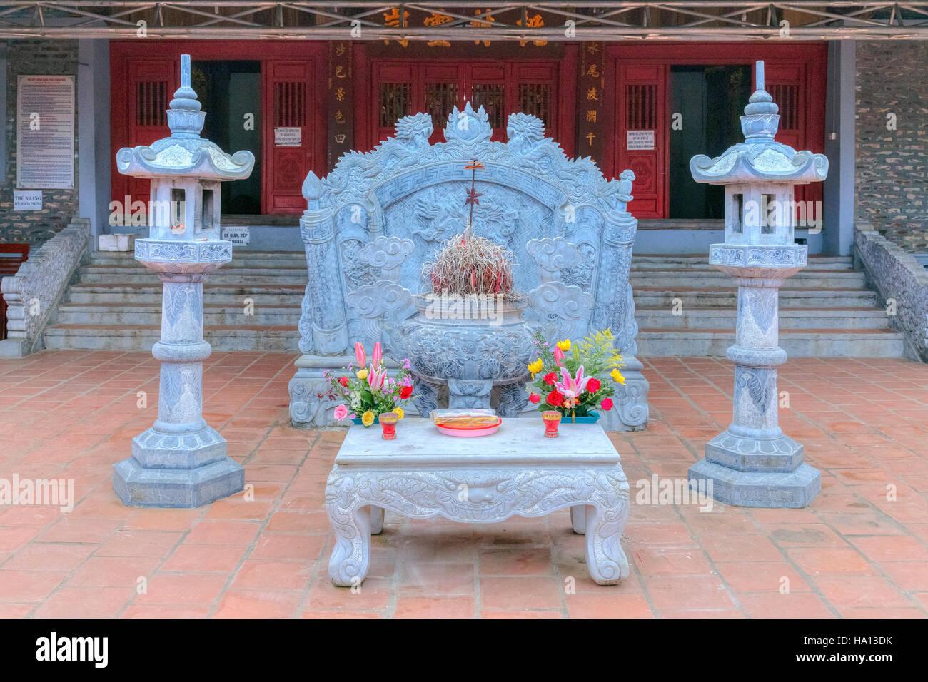 Buddhism temple in Sapa, Lao Cai, Vietnam, Asia - Stock Image