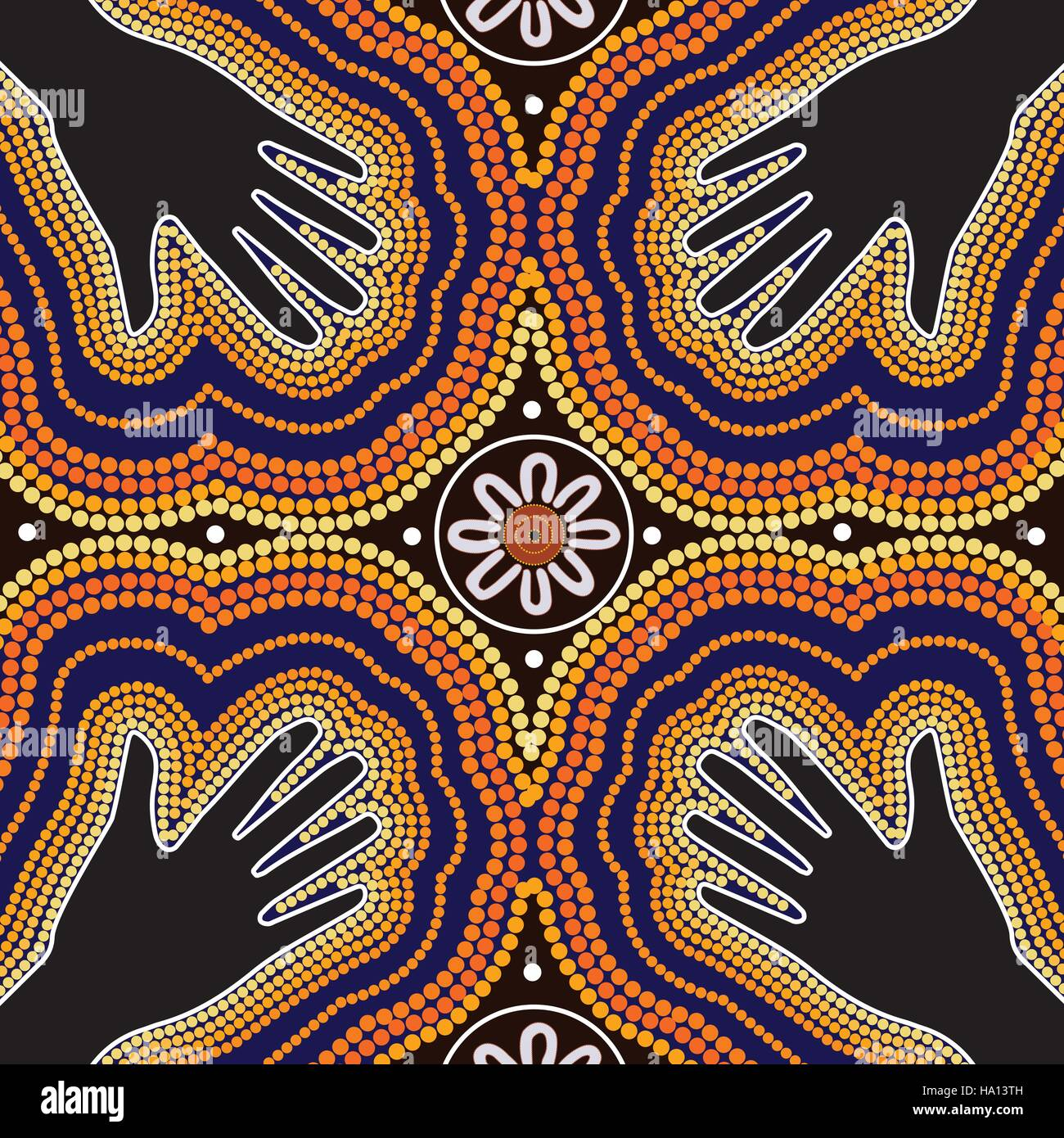 Aboriginal art vector painting stock vector art for Images of design