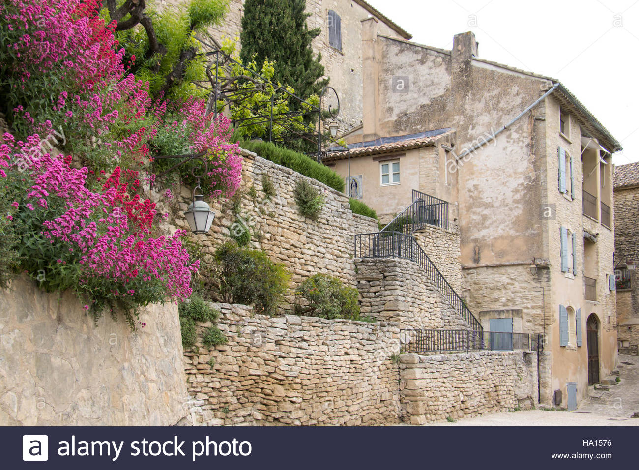 Medieval Village of Gordes Vaucluse Luberon , France Provence, old architecture, stone buildings, travel destination - Stock Image