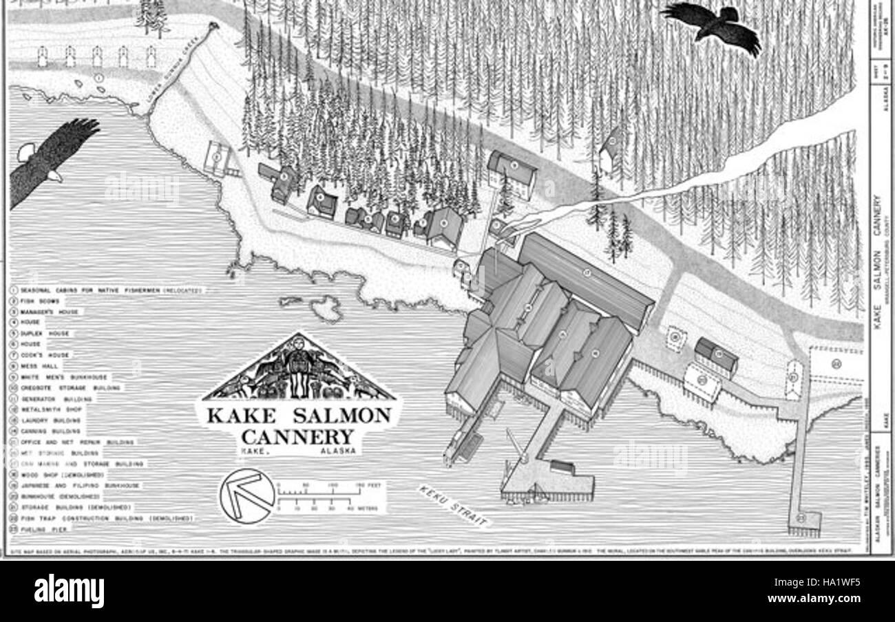 alaskanps 20359238089 Kake Cannery - Stock Image