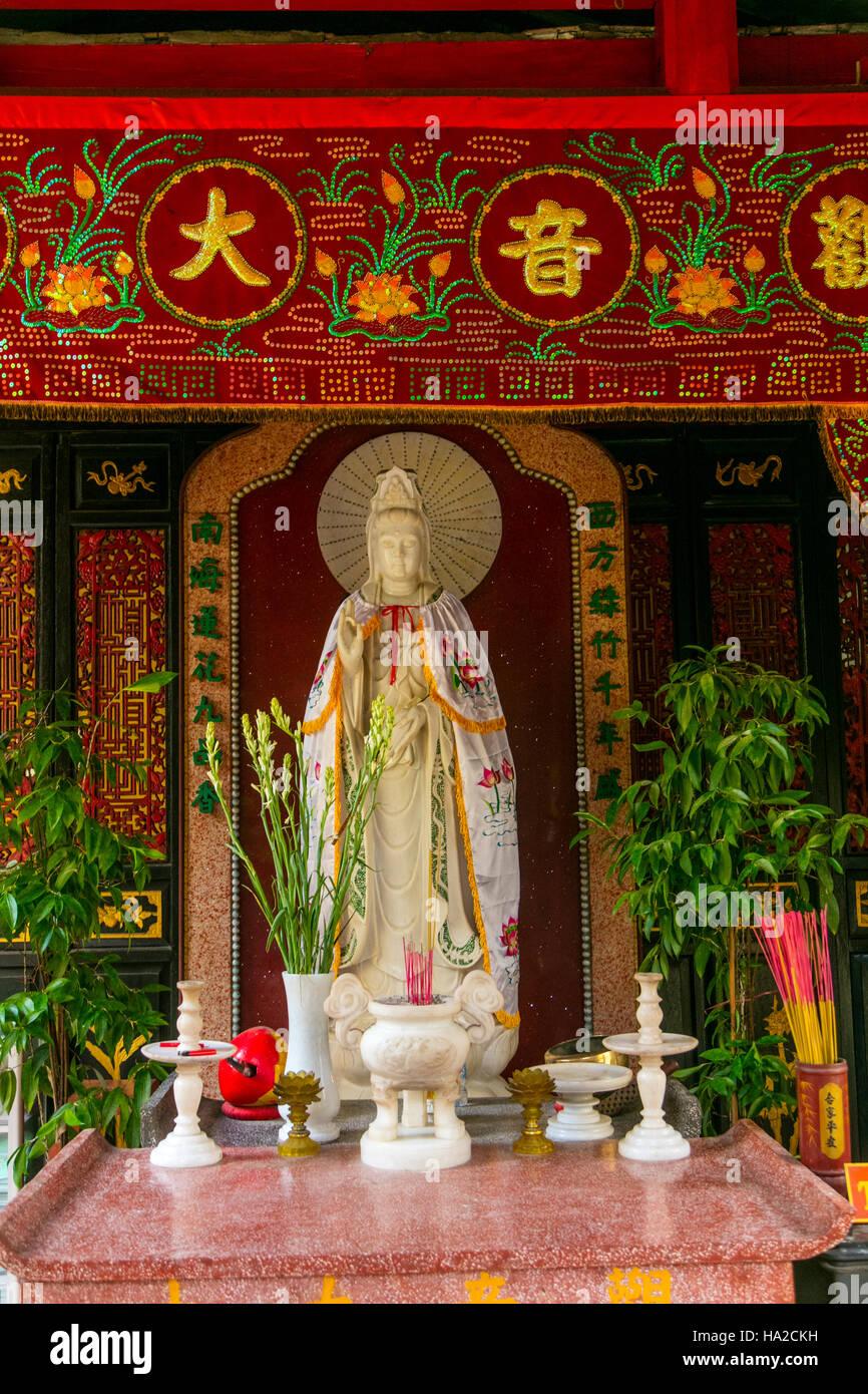 Chua Kien An Cung, Temple, Sa Dec, Mekong River,  Vietnam, Asia - Stock Image