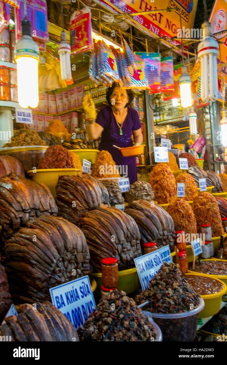 Market, Chau Doc, Vietnam, Asia - Stock Image