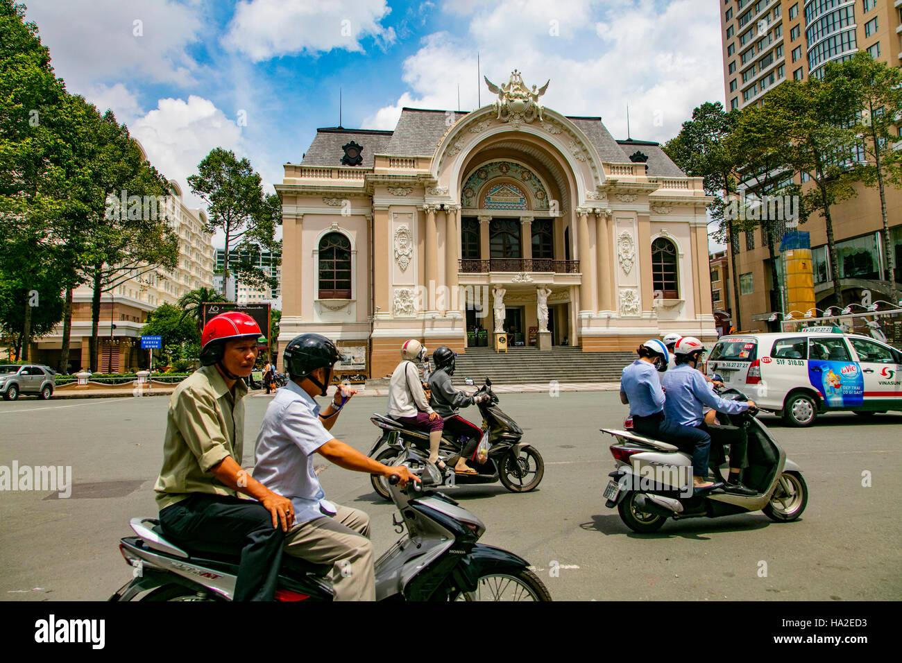 Opera House, Saigon, Vietnam, Asia - Stock Image