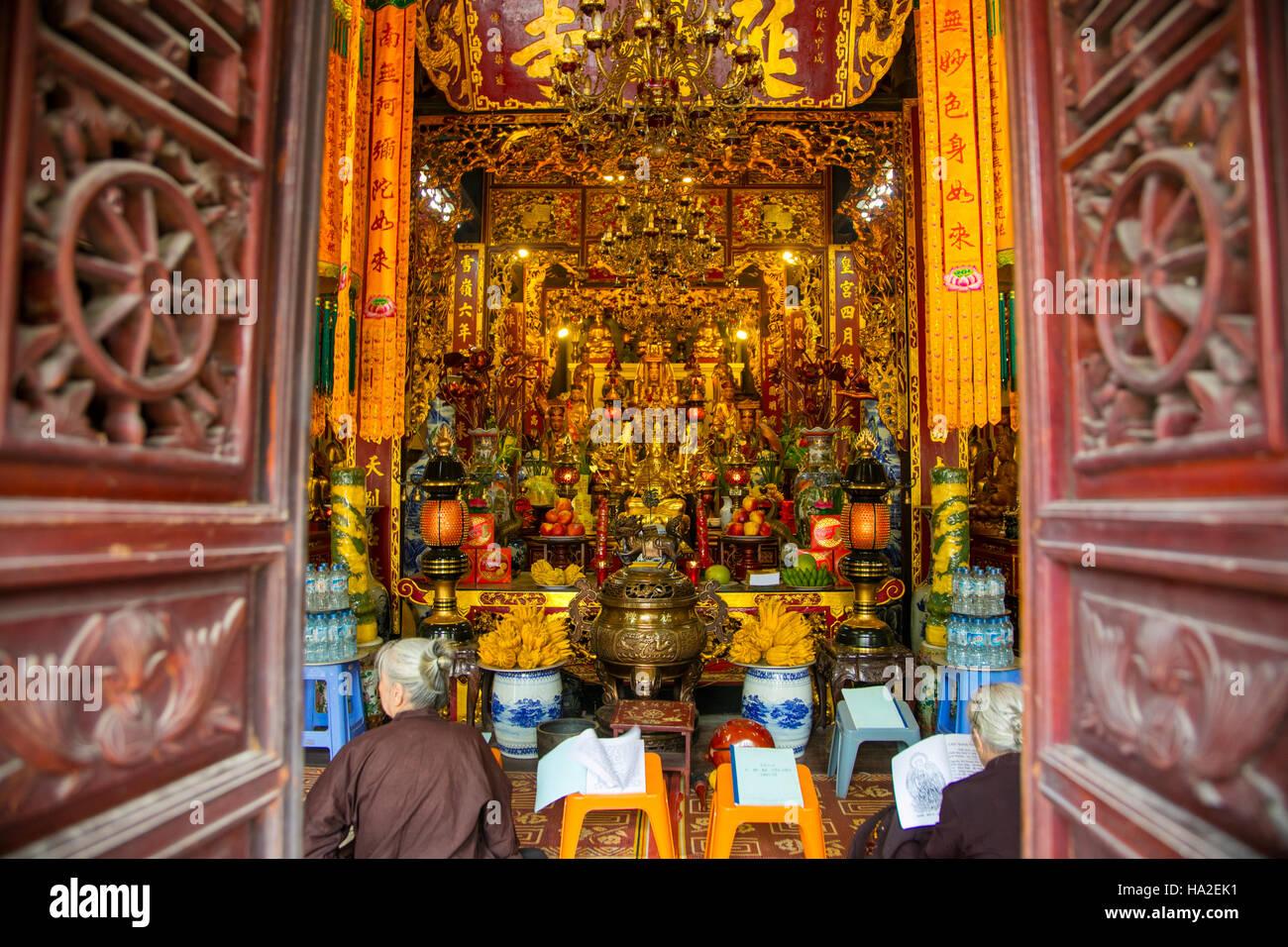 Chua Mot Cot, Buddhist Temple, Hanoi, Vietnam, Asia - Stock Image