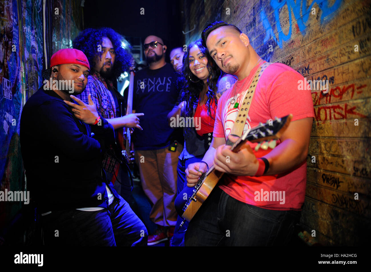 Common Kings portrait behind the scenes at the House of Blues Sunset in West Hollywood, California. - Stock Image