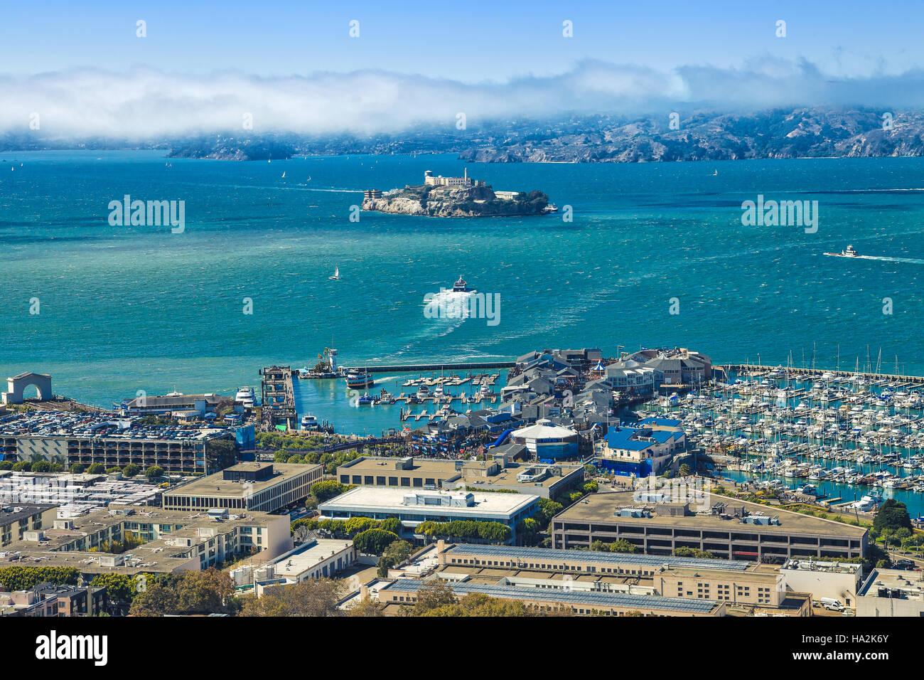 Alcatraz aerial view Stock Photo