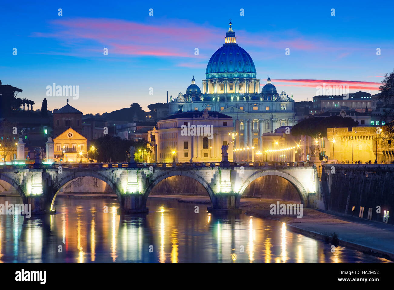St Peter's Basilica in Rome, Italy - Stock Image