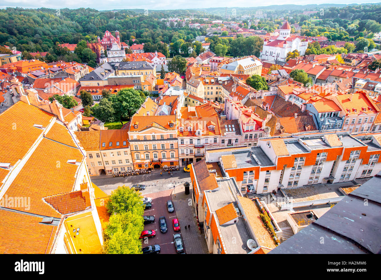 Vilnius cityscape view - Stock Image
