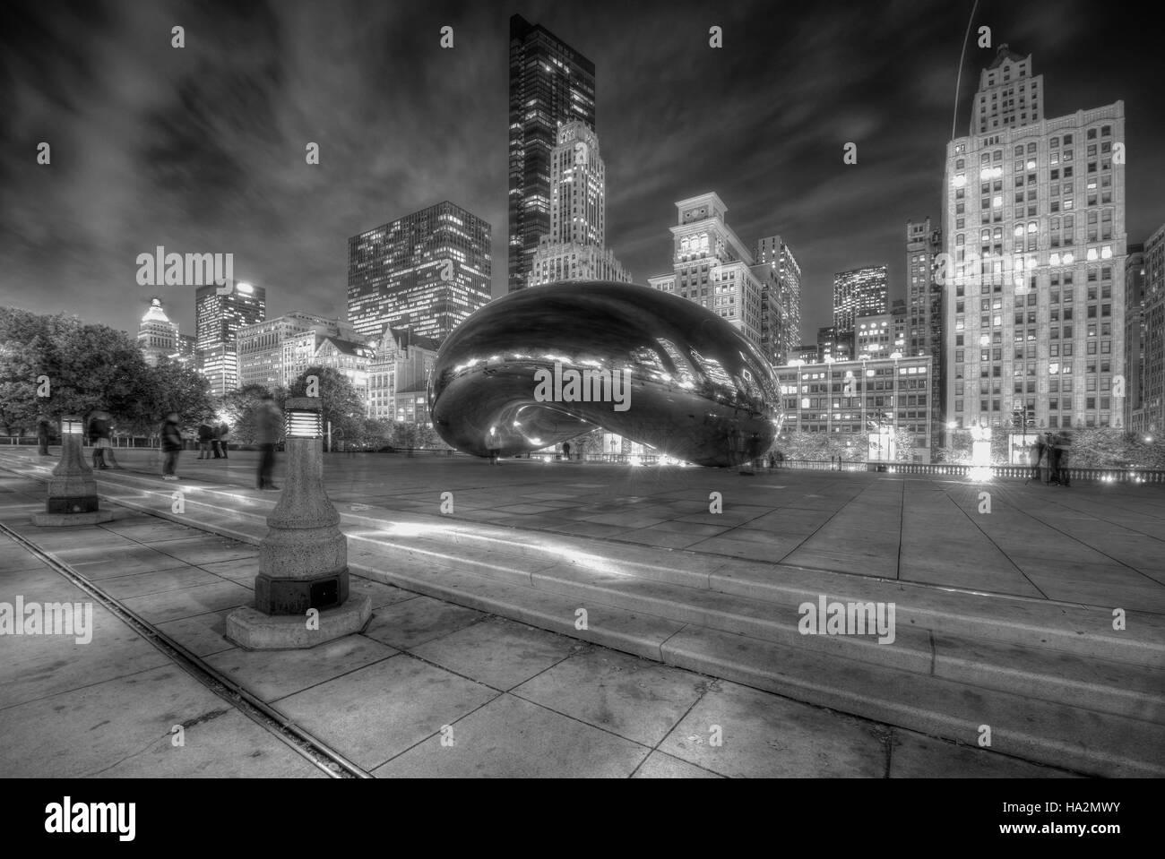 Chicago Bean at Millennium Park - Stock Image