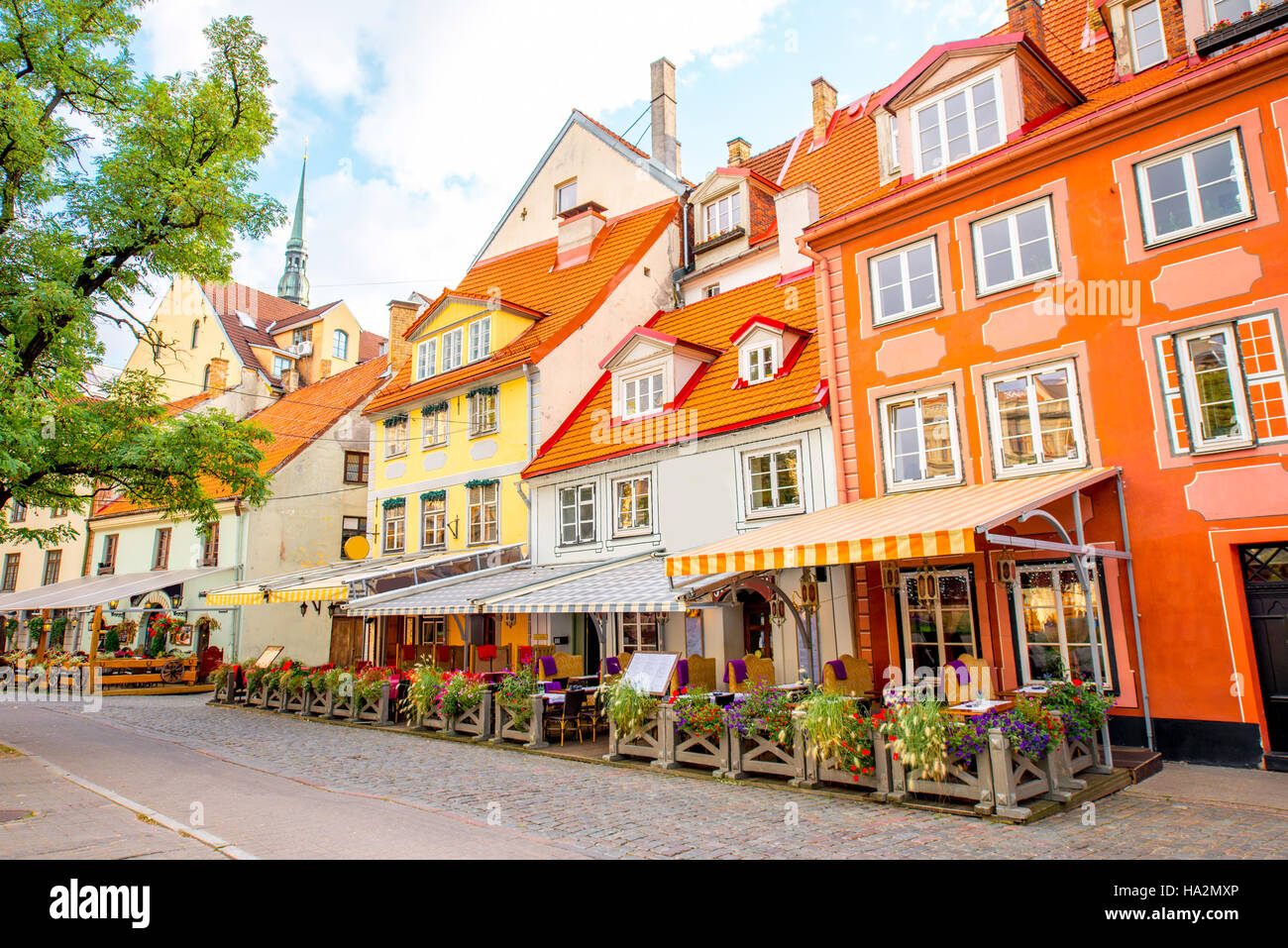 Old town in Riga - Stock Image