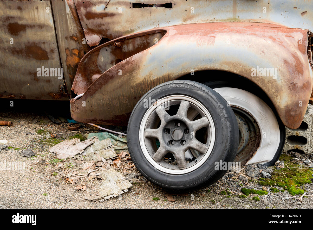 Rusted Vintage Car Parts Stock Photo: 126684029 - Alamy