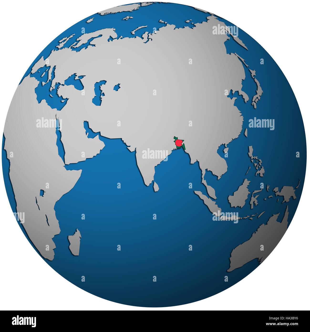 Isolated over white territory of bangladesh with flag on globe map isolated over white territory of bangladesh with flag on globe map gumiabroncs Choice Image