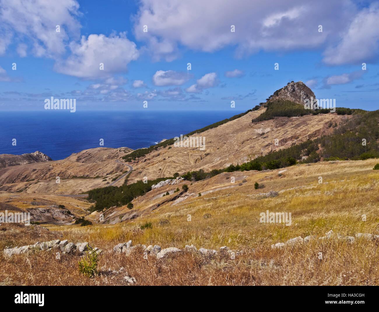 Portugal, Madeira Islands, Landscape of the Porto Santo Island. - Stock Image