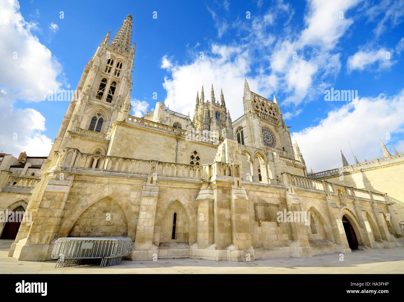 Burgos Cathedral.Famous Spanish Landmark. - Stock Image
