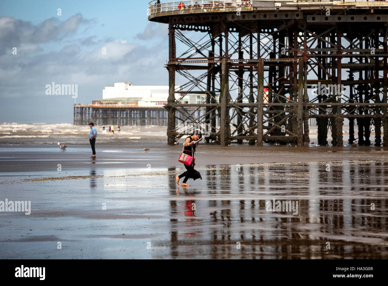 Central pier blackpool - Stock Image