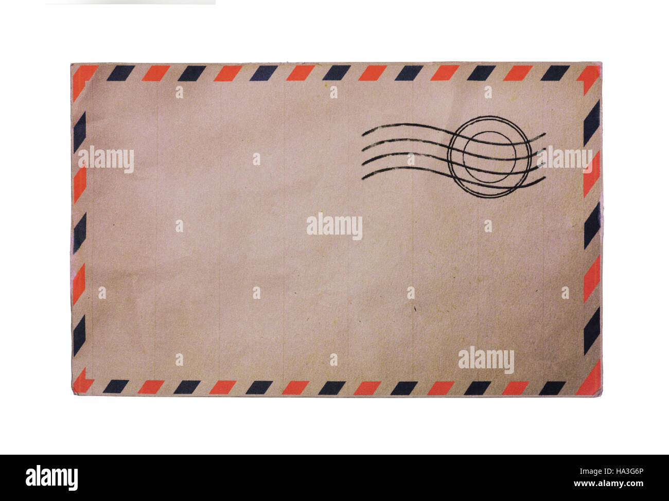 Vintage Airmail Envelope Isolated On White Background