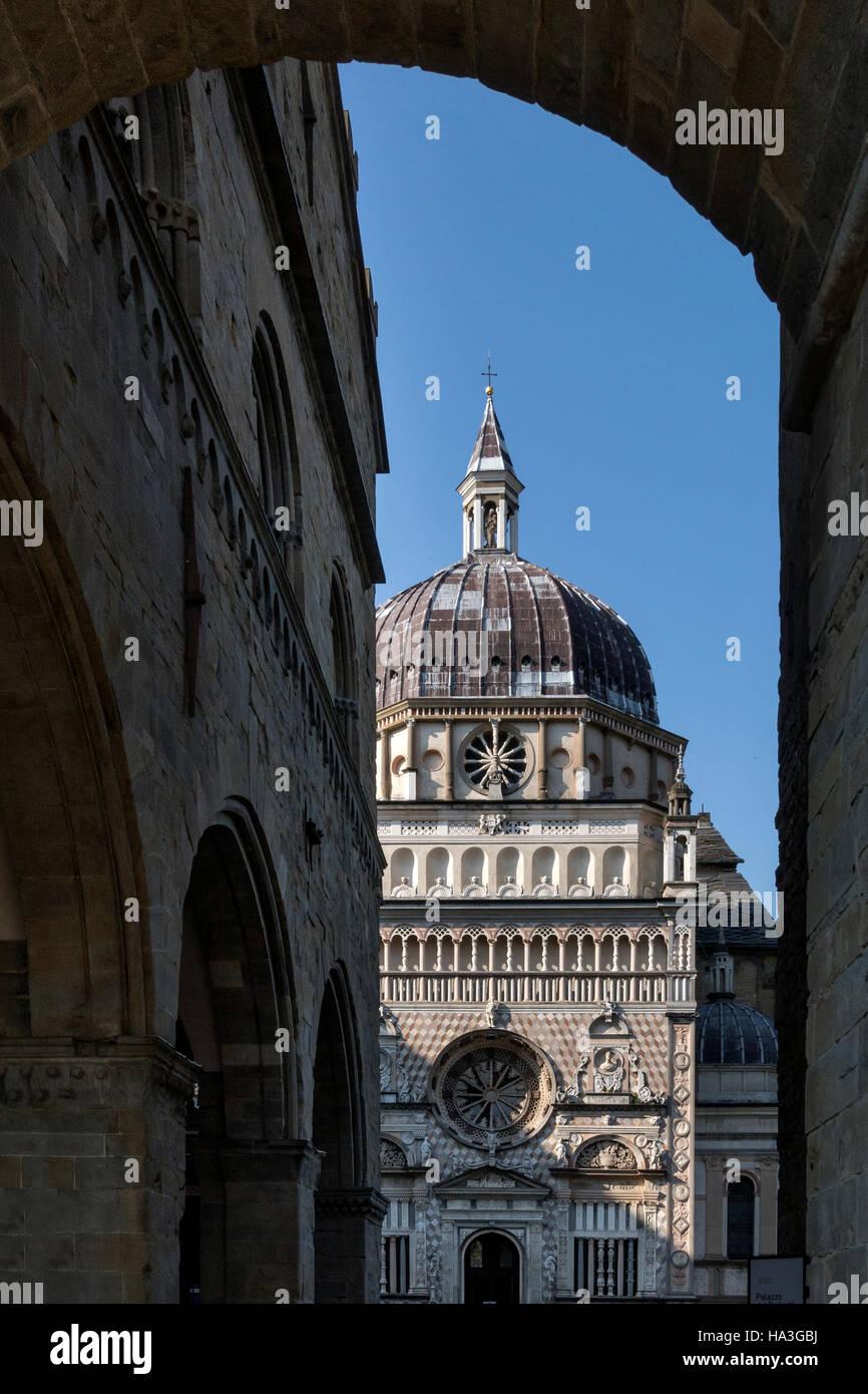 Scenic view of Citta Vecchia Old Bergamo Italy - Stock Image