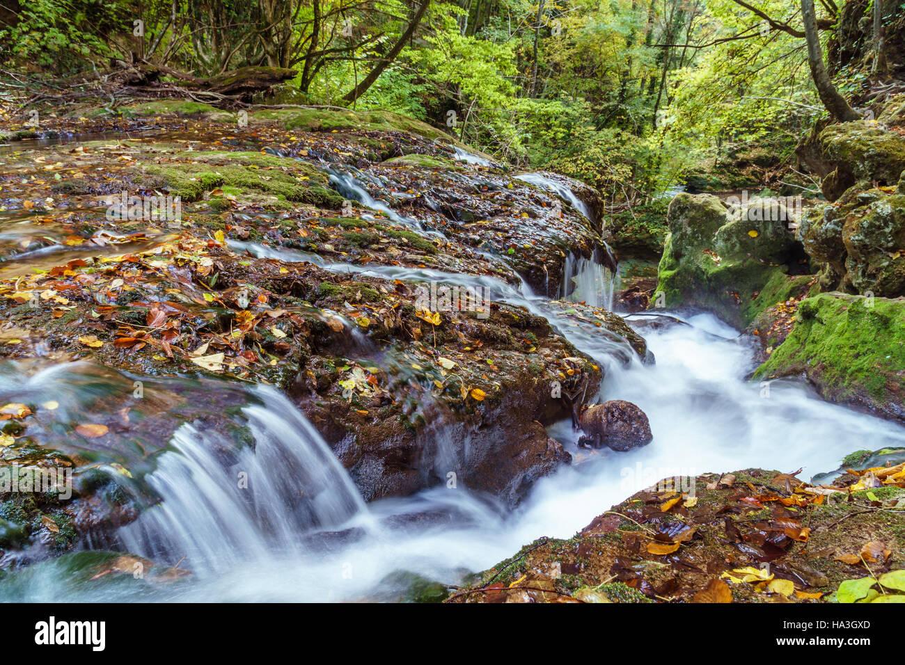 autumn waterfalls - Stock Image