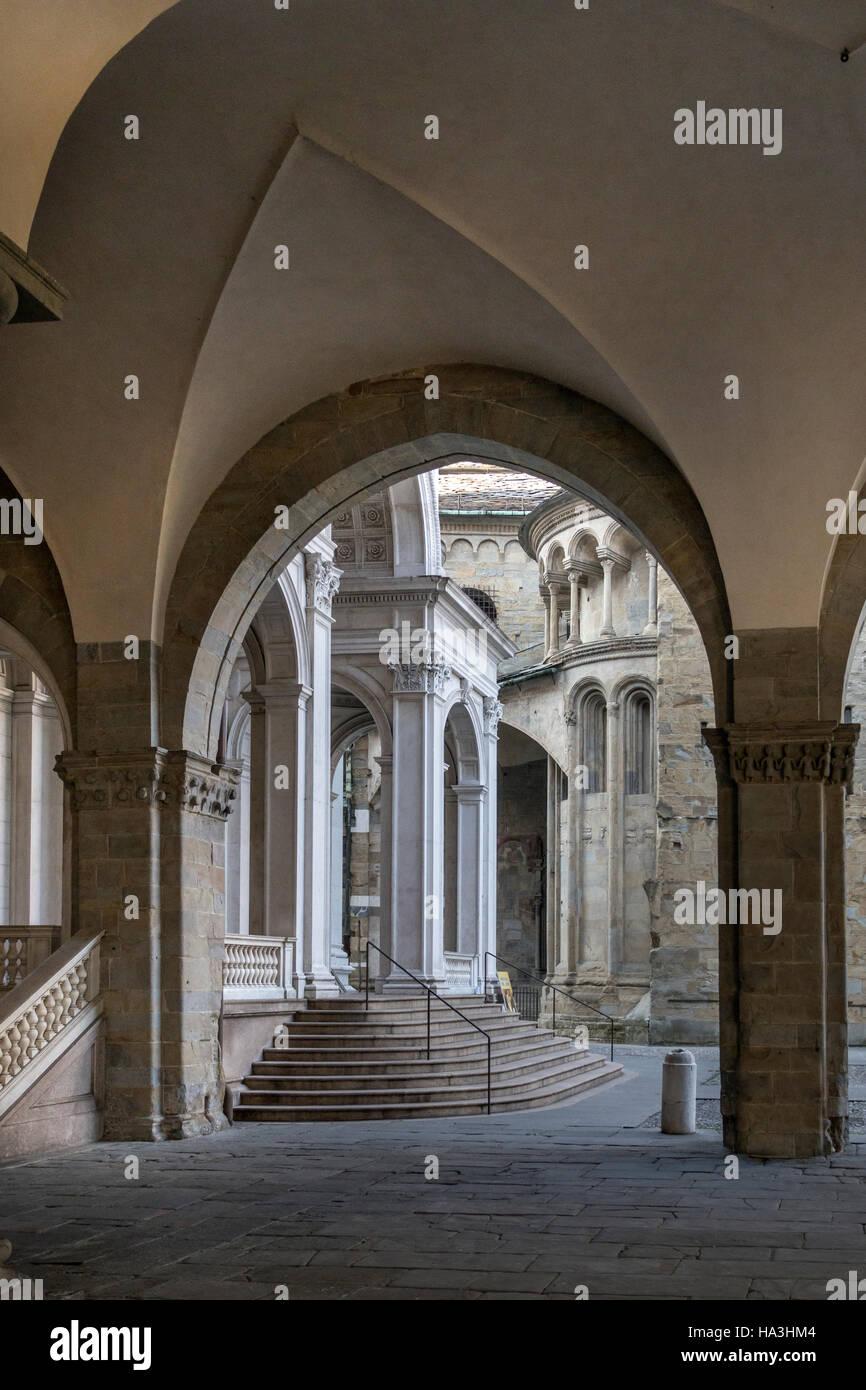 Citta Vecchia Old Bergamo Italy - Stock Image