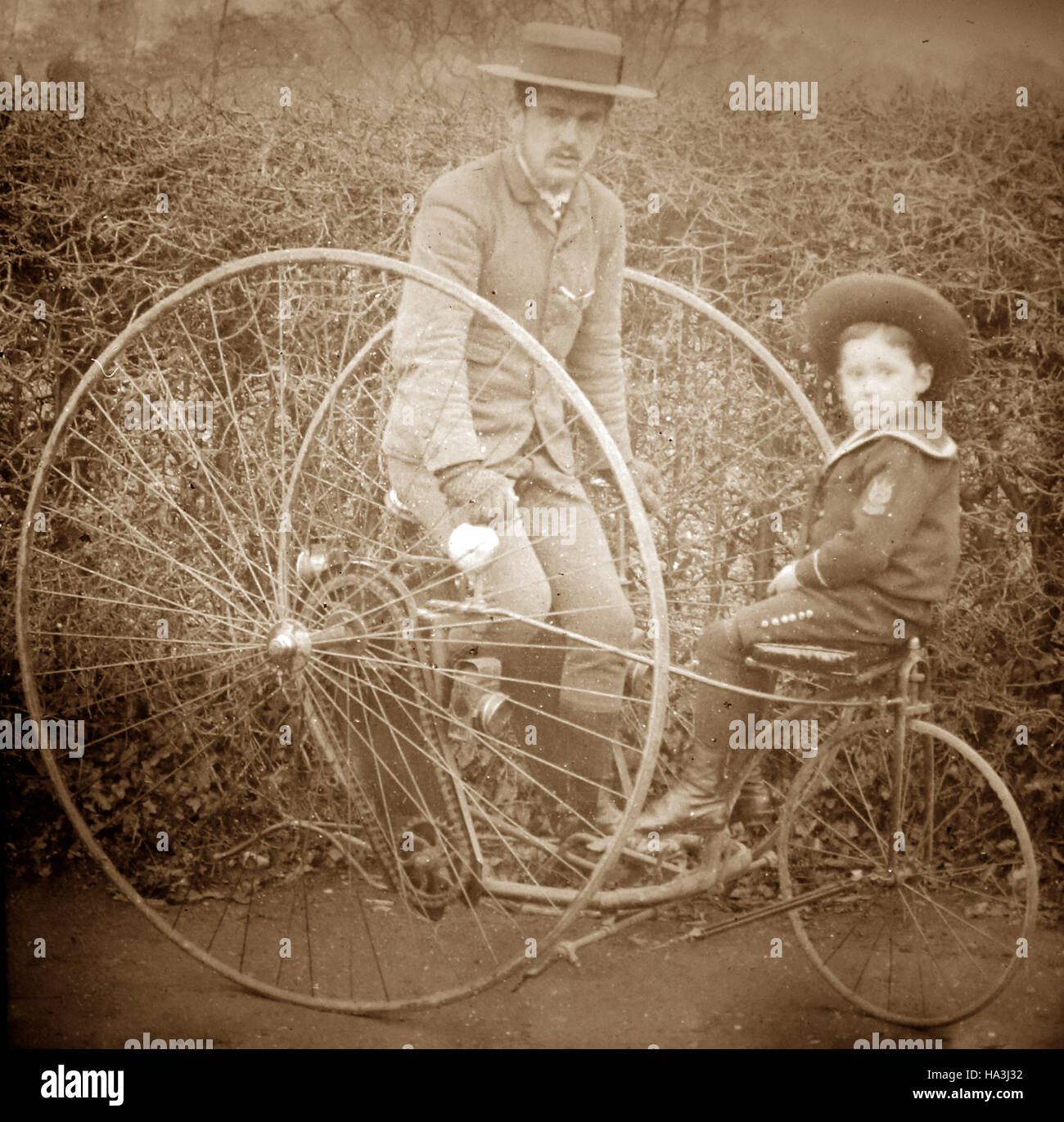 Tricycle - Victorian period - Stock Image